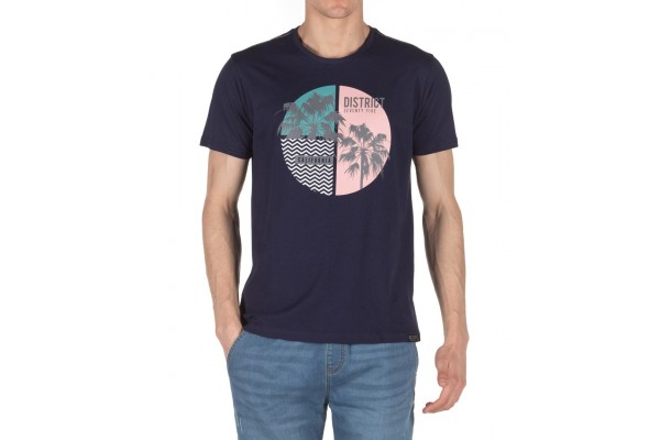 DISTRICT75 MEN'S TEE 120MSS-663 Μπλε