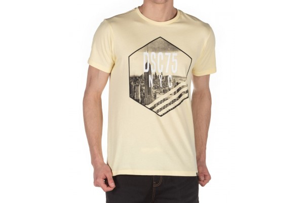 DISTRICT75 MEN'S TEE 120MSS-666 Yellow