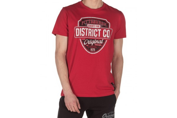 DISTRICT75 MEN'S TEE 120MSS-671 Red