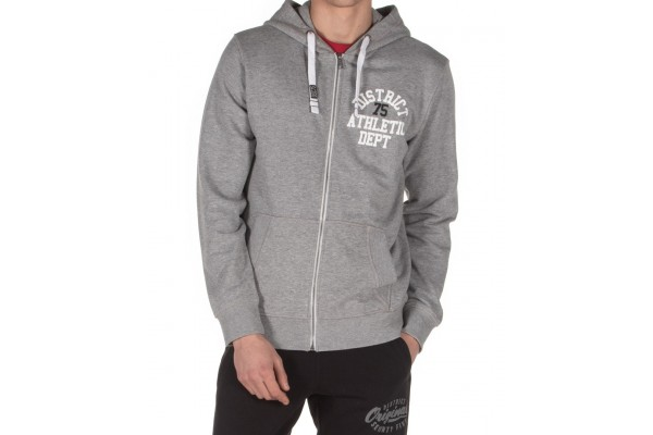 DISTRICT75 MEN'S FULL ZIP HOODIE 120MHZ-770 Grey