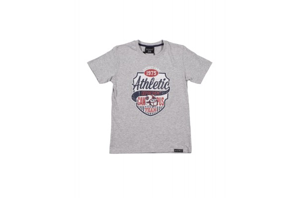 DISTRICT75 BOYS' TEE 120KBSS-725 Grey