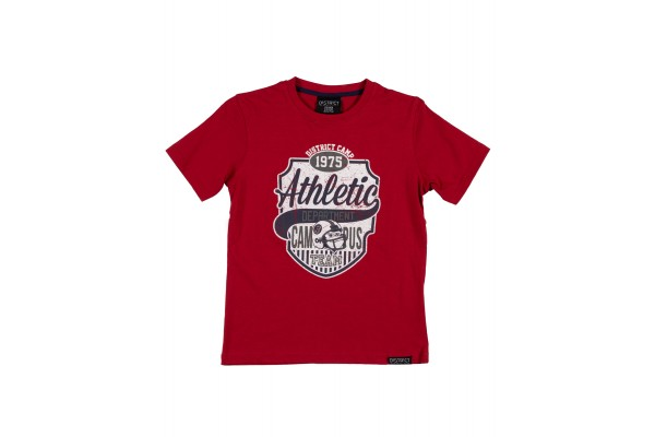 DISTRICT75 BOYS' TEE 120KBSS-725 Red