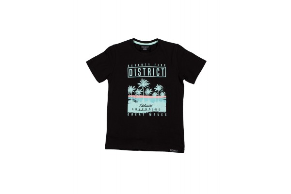 DISTRICT75 PHOTO PRINT TEE 120KBSS-732 Black