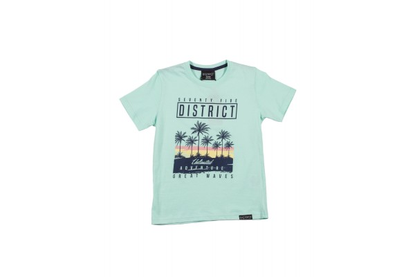 DISTRICT75 PHOTO PRINT TEE 120KBSS-732 Veraman