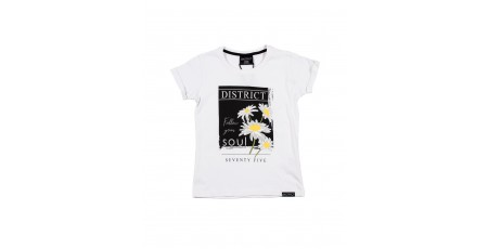DISTRICT75 GIRLS' TEE 120KGSS-742 White