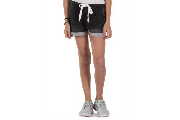 DISTRICT75 GIRLS' JEANS SHORTS 119KGSO-477 Black